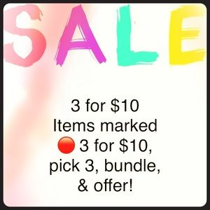 🔴3 for $10 Sale!!